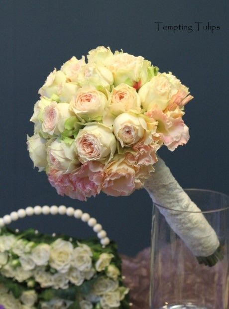 {by Tempting Tulips}Pavlova Rose Bouquet! 수입장미 파블로바 부케 http://temptingtulips.co.kr/30176737626