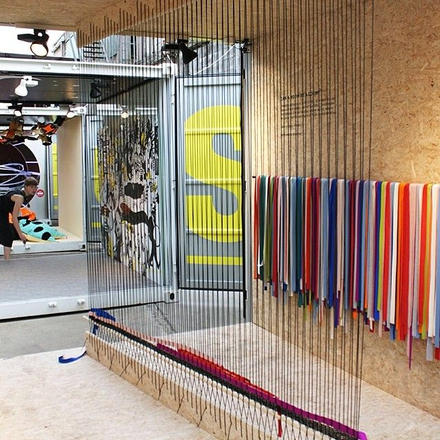 Can A Room Be A Loom? By Rosa Tolnov Clausen part of the Tube supported by Kvadrat  #kvadratsalone2014