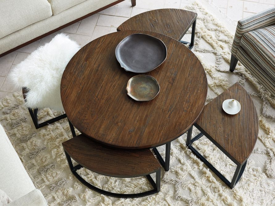 Palmer Round Nesting Coffee Table Arhaus Furniture Nesting
