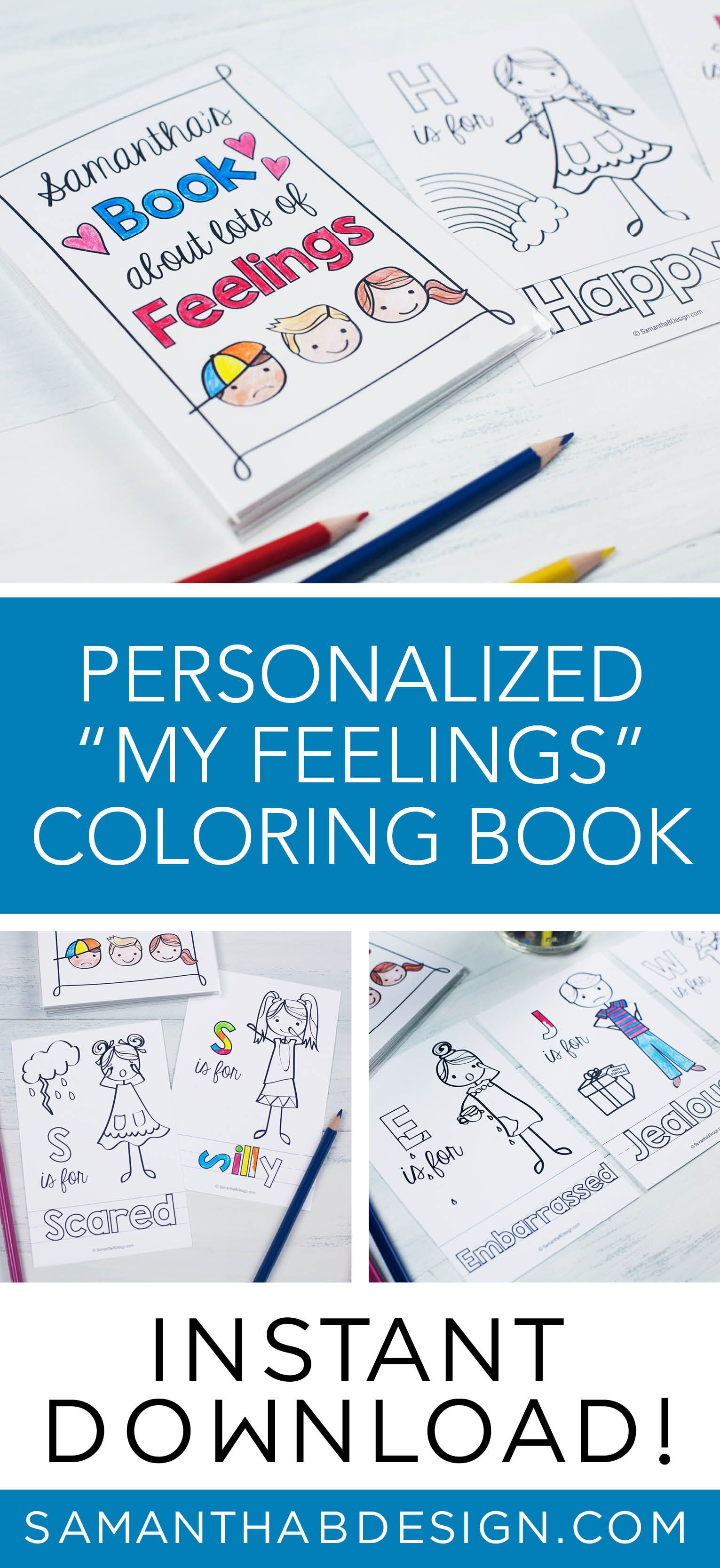 feelings coloring book emotions kids feelings chart therapy