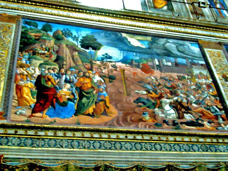 3) P.S.Cruce del Mar Rojo Pintado por Cosimo Rosselli