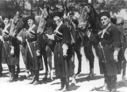 эмигрантские казаки, 1930 Cosacos emigrados, Bélgica 1930.