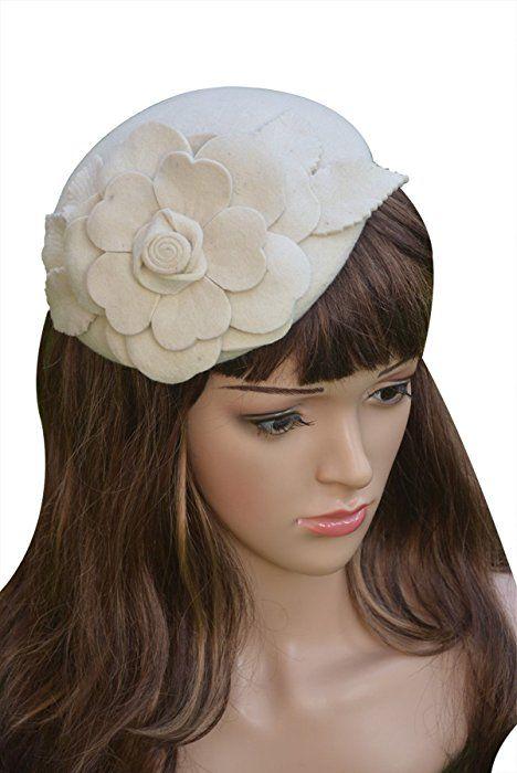 www.amazon.com Flower-Womens-Fascinator-Pillbox-Wedding dp B00LZOCGRA ... f5b5335352e