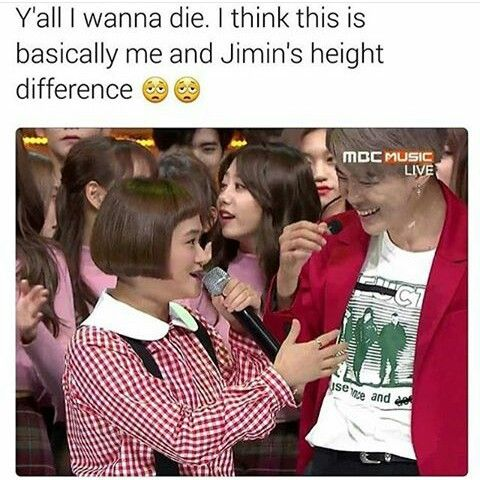 Well Umm I M Like 5 7 170 Cm So Not Much Of A Difference What With Jimin Being 175 Cm Bts Memes Bts Funny Bts Boys