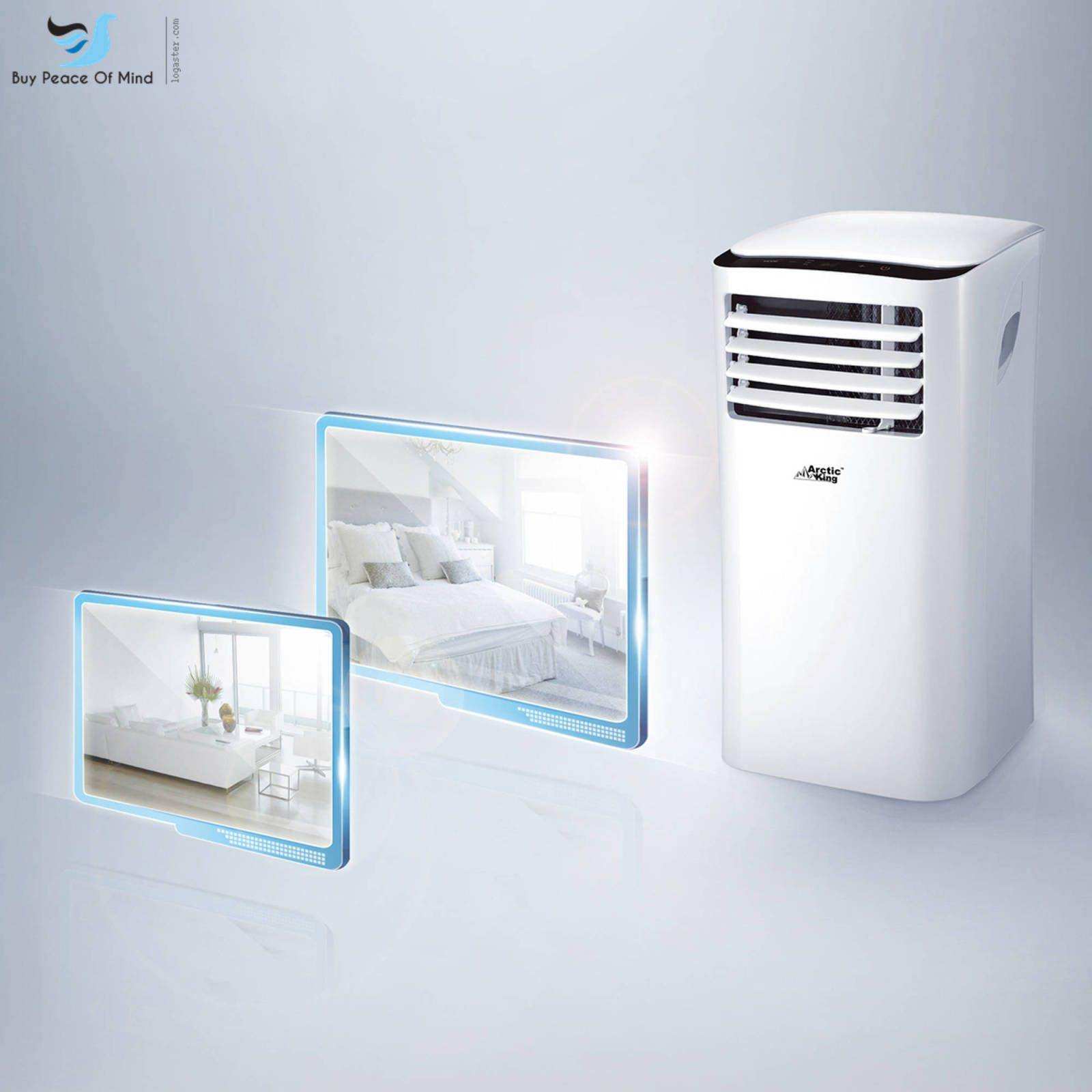 Air Conditioner White Arctic King WPPH 10CR5 10 000Btu Remote