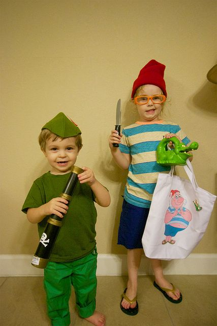 Peter Pan and Mr Smee costumes clever halloween costumes - clever halloween costume ideas