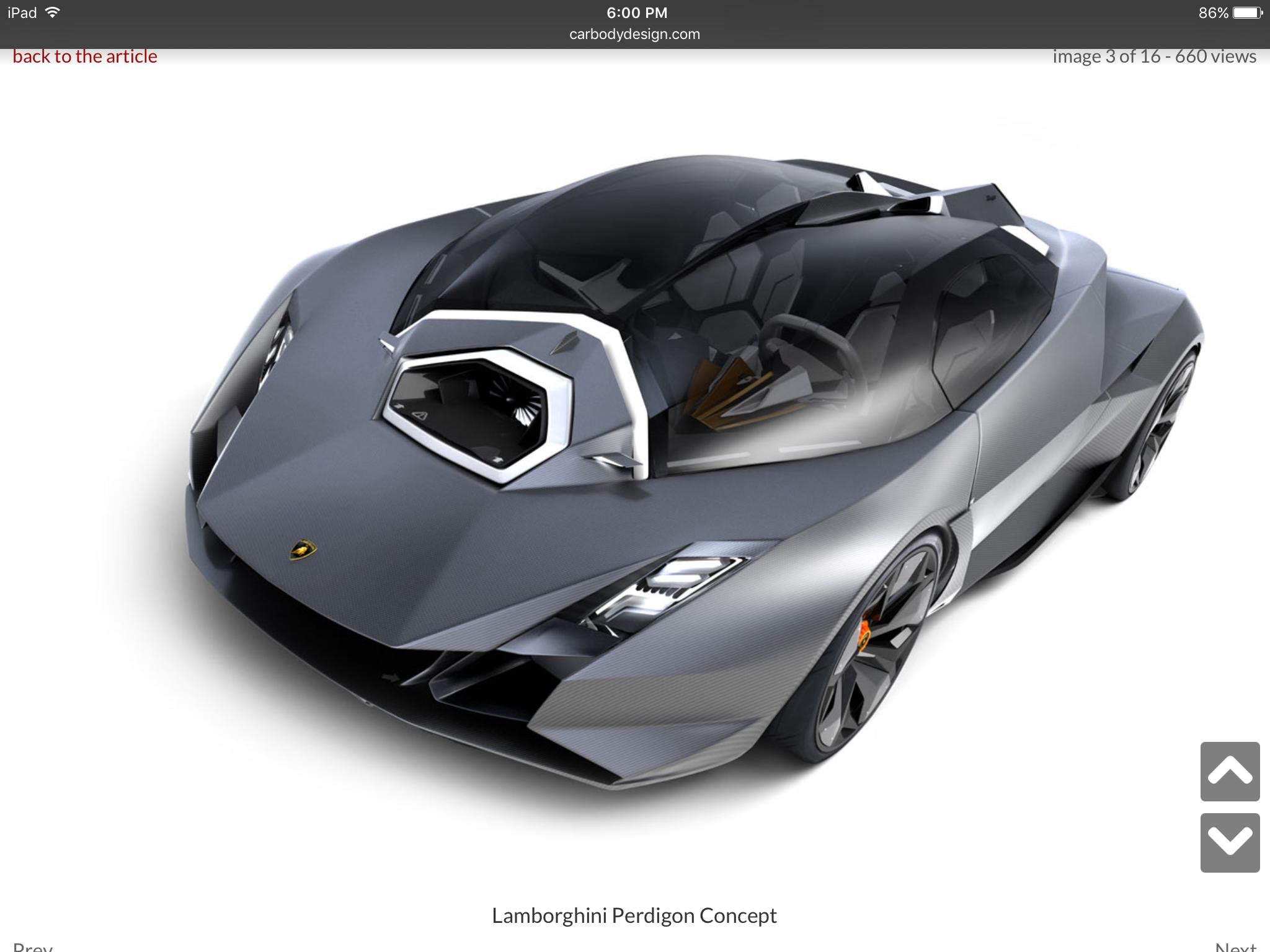 Futuristic Lamborghini Concept
