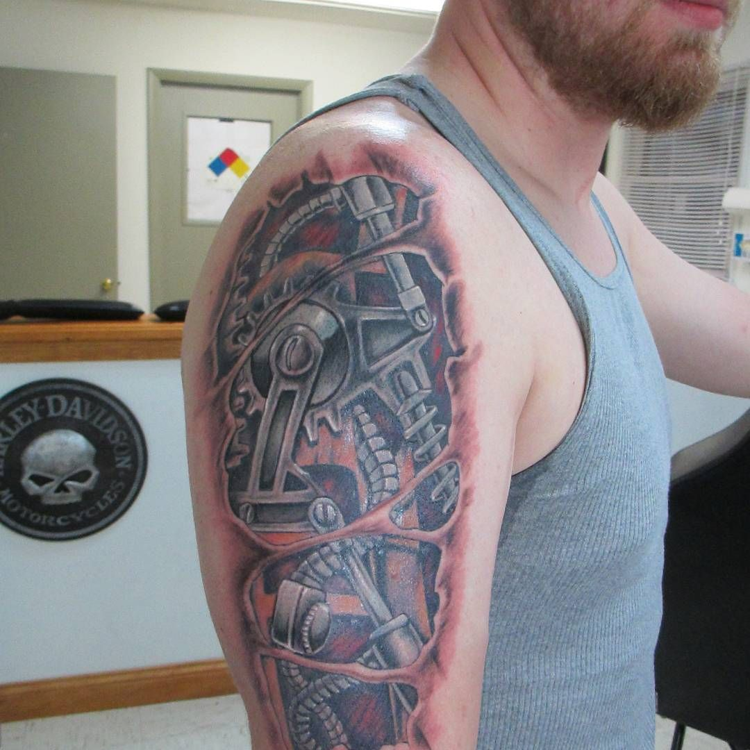 75+ Best Biomechanical Tattoo Designs & Meanings (Top of