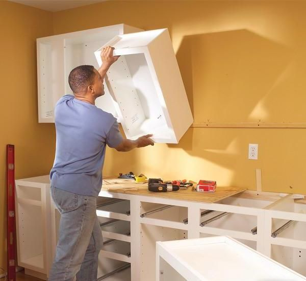 How To Install Hanging Cabinets For Kitchen Installing Cabinets