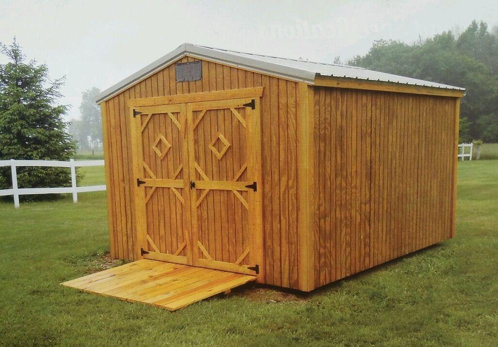 AMISH UTILITY SHED   Handmade 12x12 Storage Shed *Delivered*  #AmishBuildersGuild