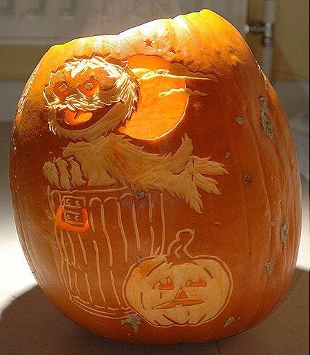 Oscar The Grouch Pumpkin Carving