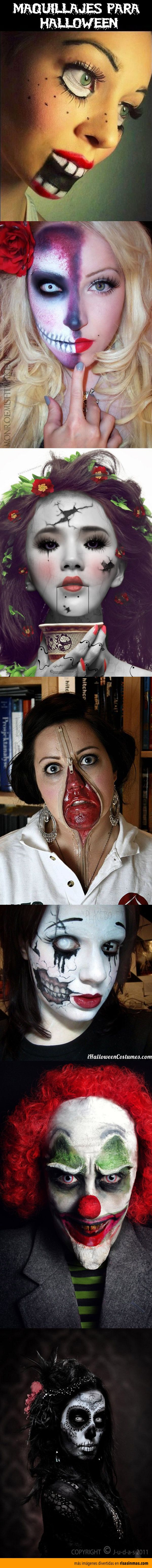 Recopilación de los mejores maquillajes para halloween caras