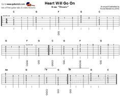 Heart Will Go On From Titanic Easy Acoustic Guitar Tab Guitar Tabs Guitar Tabs And Chords Guitar Tabs Songs