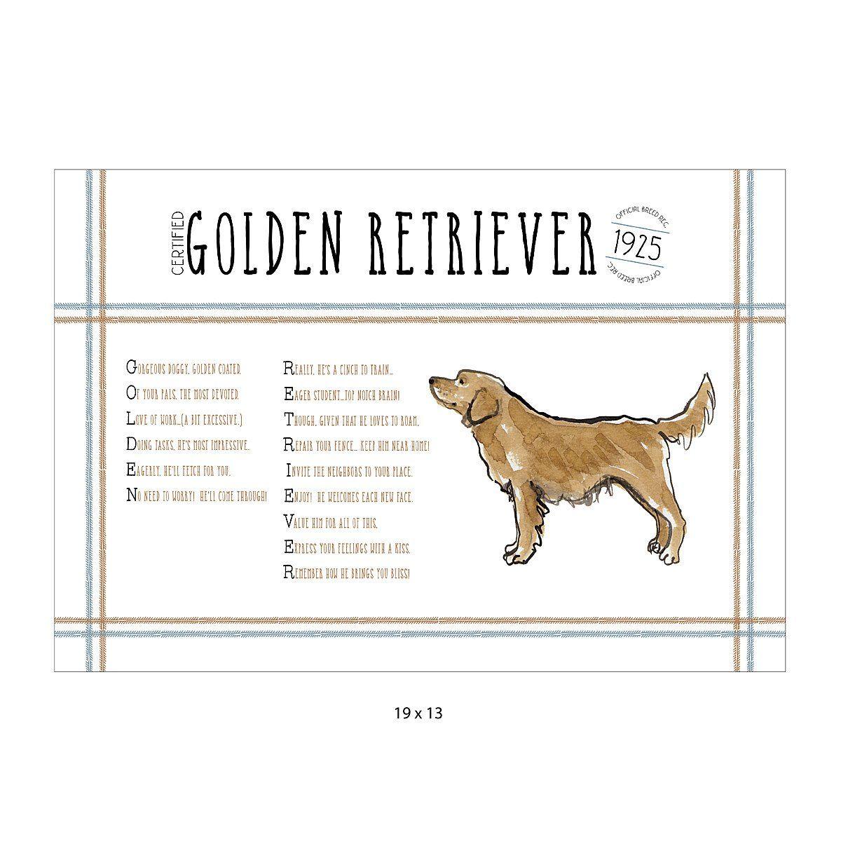 Pedigree Poem Art Dog Lover Gifts Retriever Puppy Golden
