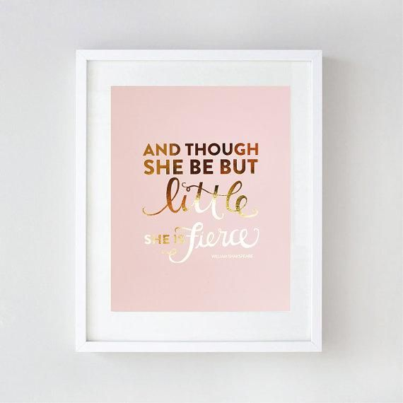 Gold Foil Wall Art gold foil nursery wall art with different fonts and quotes