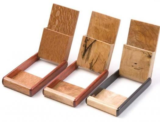 Diy pocket business card holder misc items pinterest for Make wooden craft ideas