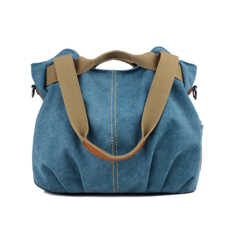 b32838b98802 Losmile Women s Vintage Canvas Shoulder Bag Purse Top-Handle Hobo Tote  Handbags Crossbody Shopping Bags
