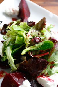 Oven-Roasted Beets with Balsamic & Goat Cheese #delallorecipes #balsamic