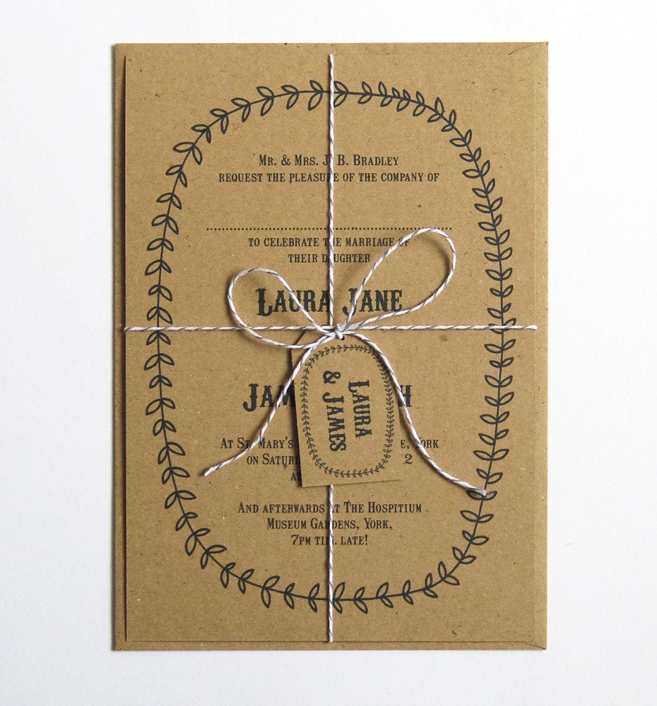 Country fair personalised wedding invitation 250 via