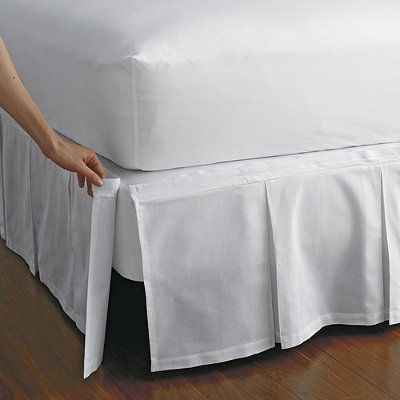 Detachable Box Pleat Bedskirt Bedskirt Luxury Bedding Master Bedroom Box Spring Bed Bedskirts for twin beds