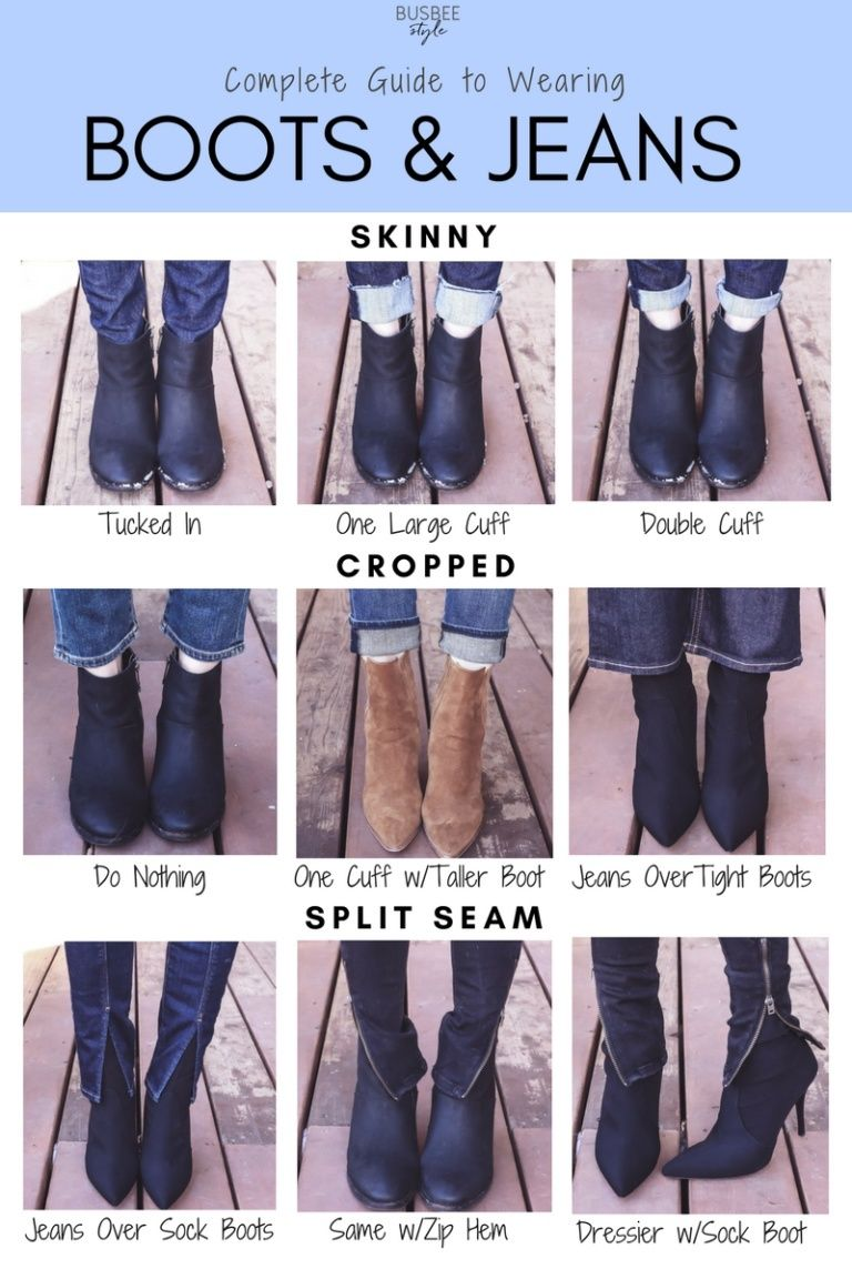 The Complete Guide to Wearing Boots with Jeans #skinnyjeansandankleboots