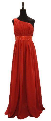Angel Star One Shoulder Beading Chiffon Floor Length Wedding Party Bridesmaid Dress, http://www.amazon.co.uk/dp/B00E9B6CU8/ref=cm_sw_r_pi_awdl_x-uZtb0802T38