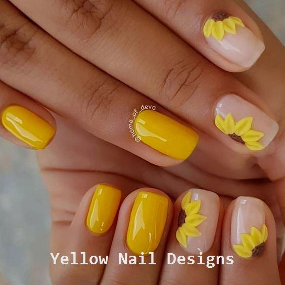 Yellow Summer Nails Yellow Nails Yellow Nails Design Yellow Nail Art