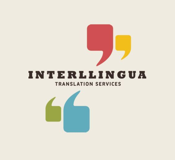 logo design quotation marks interllingua Oh yes please design - Branding Quotation