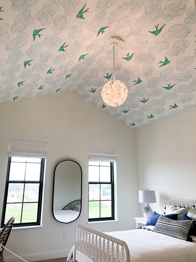 Modern Home Trends I'm Loving Bird wallpaper bedroom