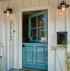 Nice Beach House Dutch Front Door   What A Fun Color!