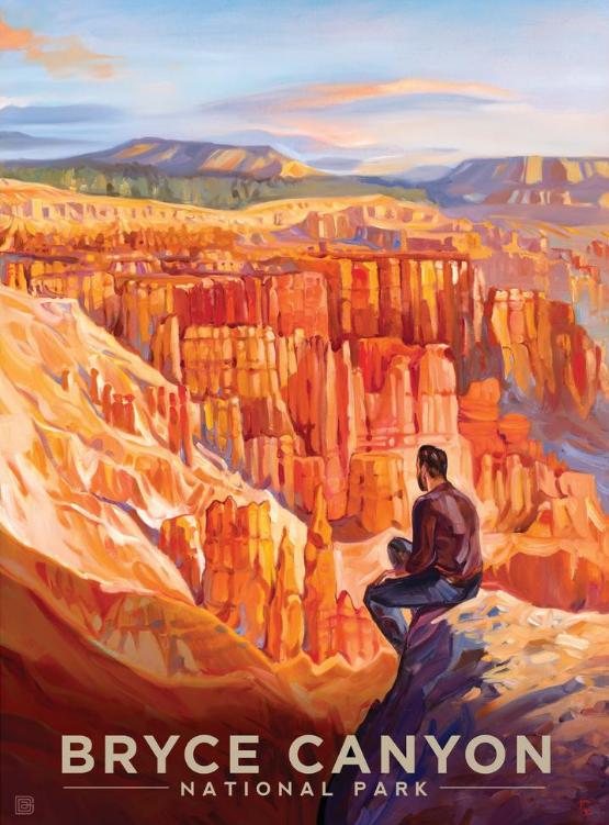 Bryce Canyon National Park Utah United States Travel Advertisement Art Poster