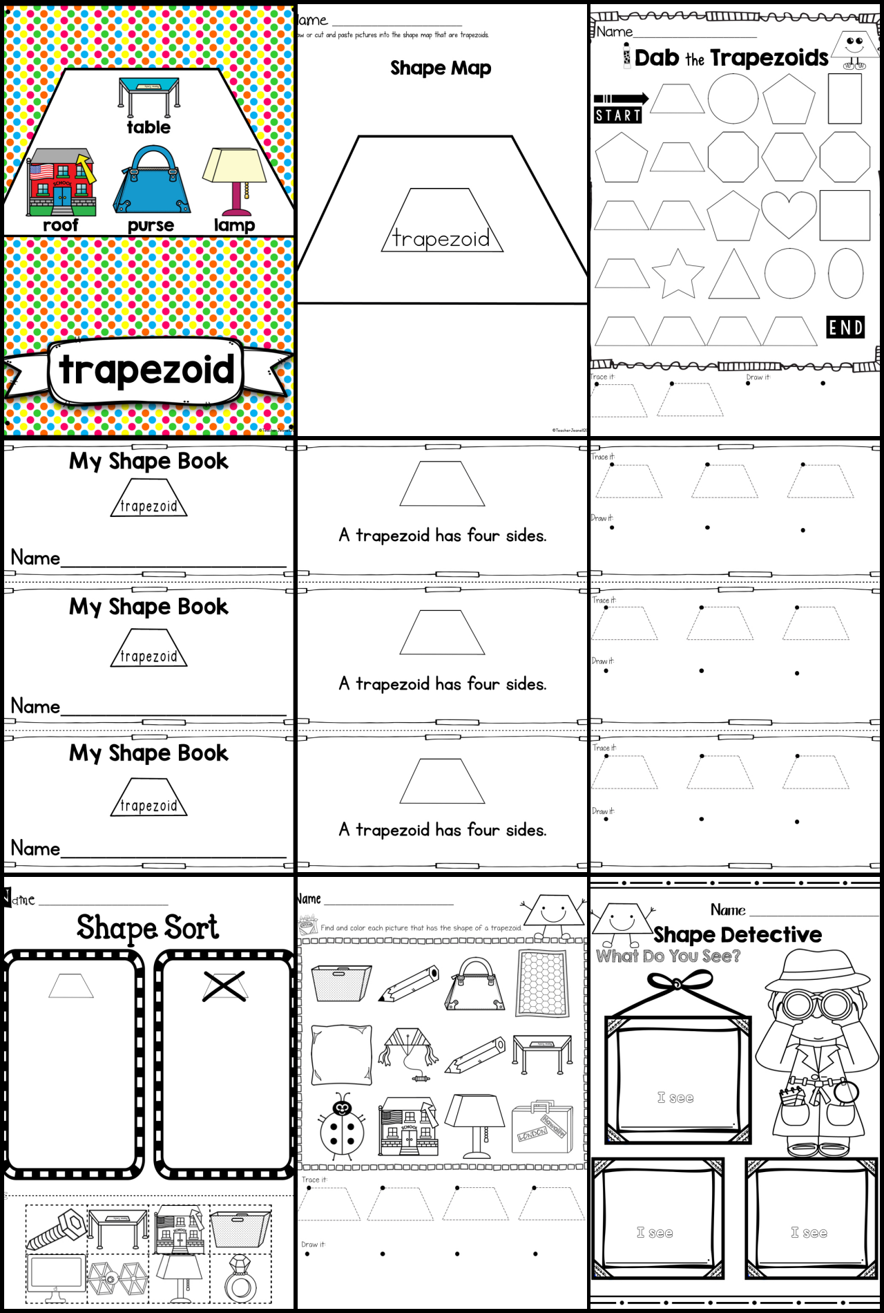 Shape Of The Week Trapezoid Trapezoid Shape Trapezoid Activities For Shapes Trapezoid S Elementary School Math Activities 2d Shapes Shapes Activities [ 1900 x 1280 Pixel ]