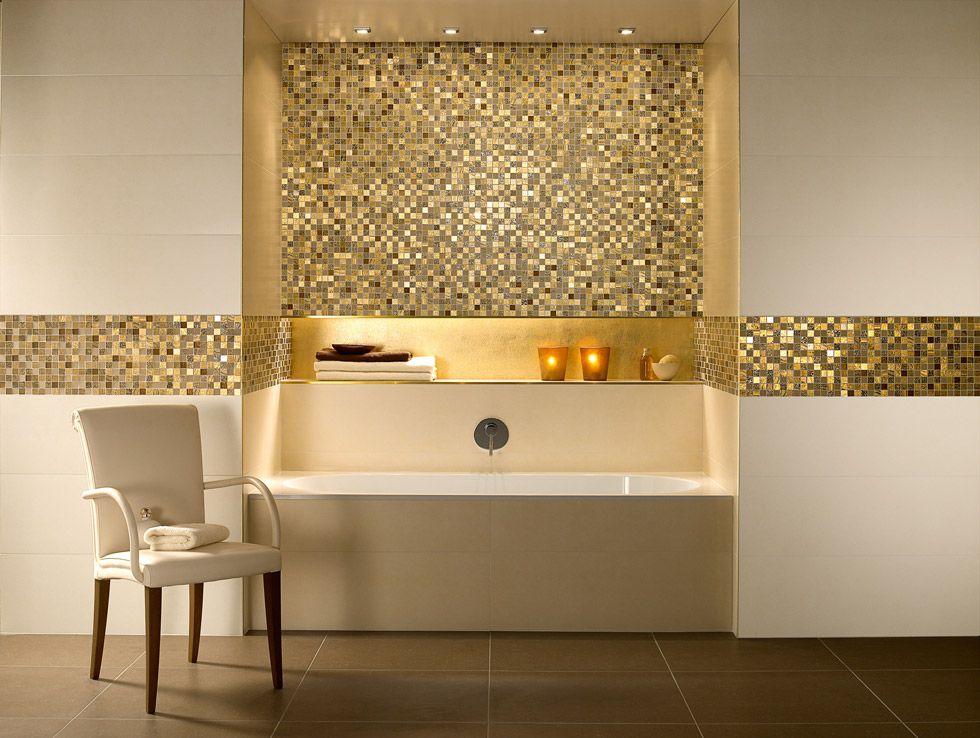 Pareti Glitter Oro : Mosaico bagno u2022 100 idee per rivestire con stile bagni moderni e