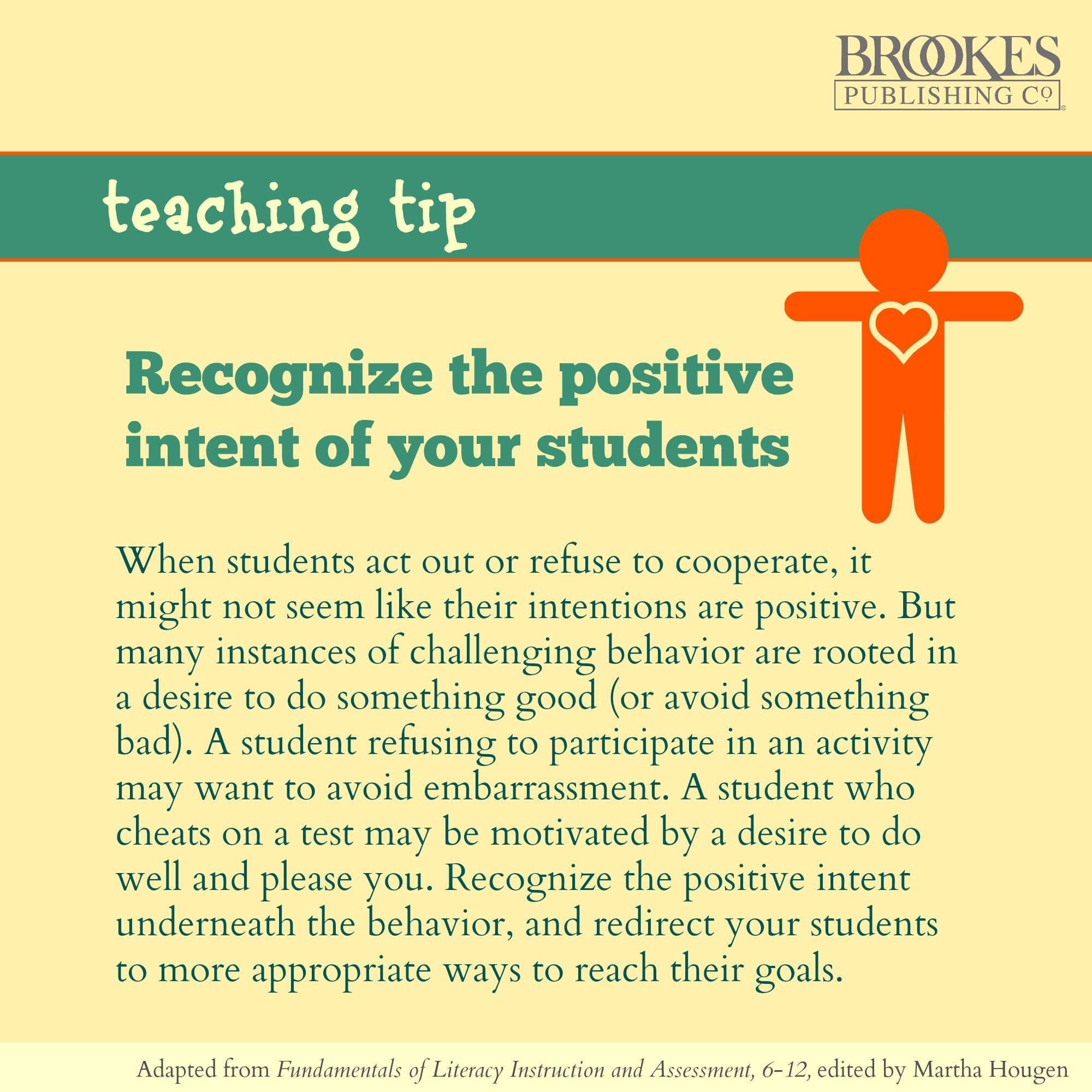 When Students Act Out Try To See The Positive Intent