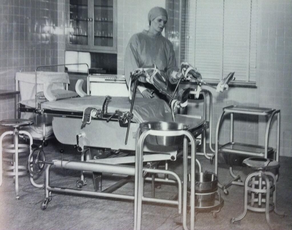 Director of nursing marie mason poses in delivery room