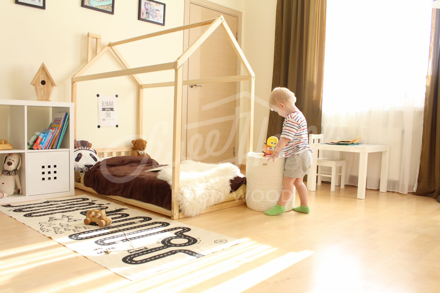 Toddler bed house bed tent bed children bed wooden house wood house wood nursery kids teepee bed wood bed frame wood house bed & Toddler bed house bed tent bed children bed wooden house wood ...