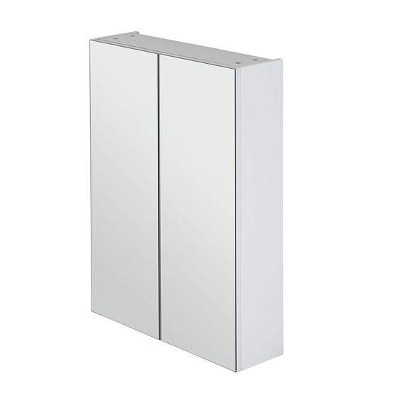 Myplan 600 Mirror Cabinet White Gloss Bath