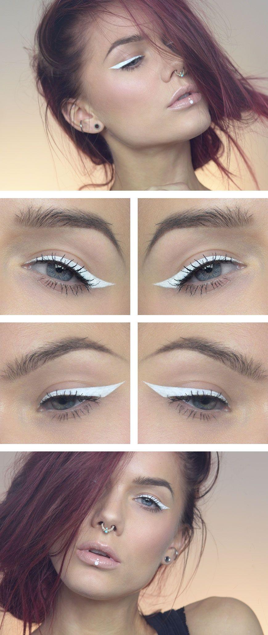 Todays look – White eyeliner (Lindas Sminkblogg)  Makeup eyeliner