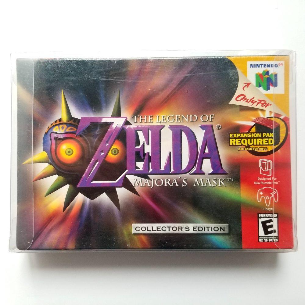 Legend Of Zelda Majora S Mask Collector Edition Nintendo 64 H Seam New Sealed Majoras Mask Nintendo 64 Games Legend Of Zelda