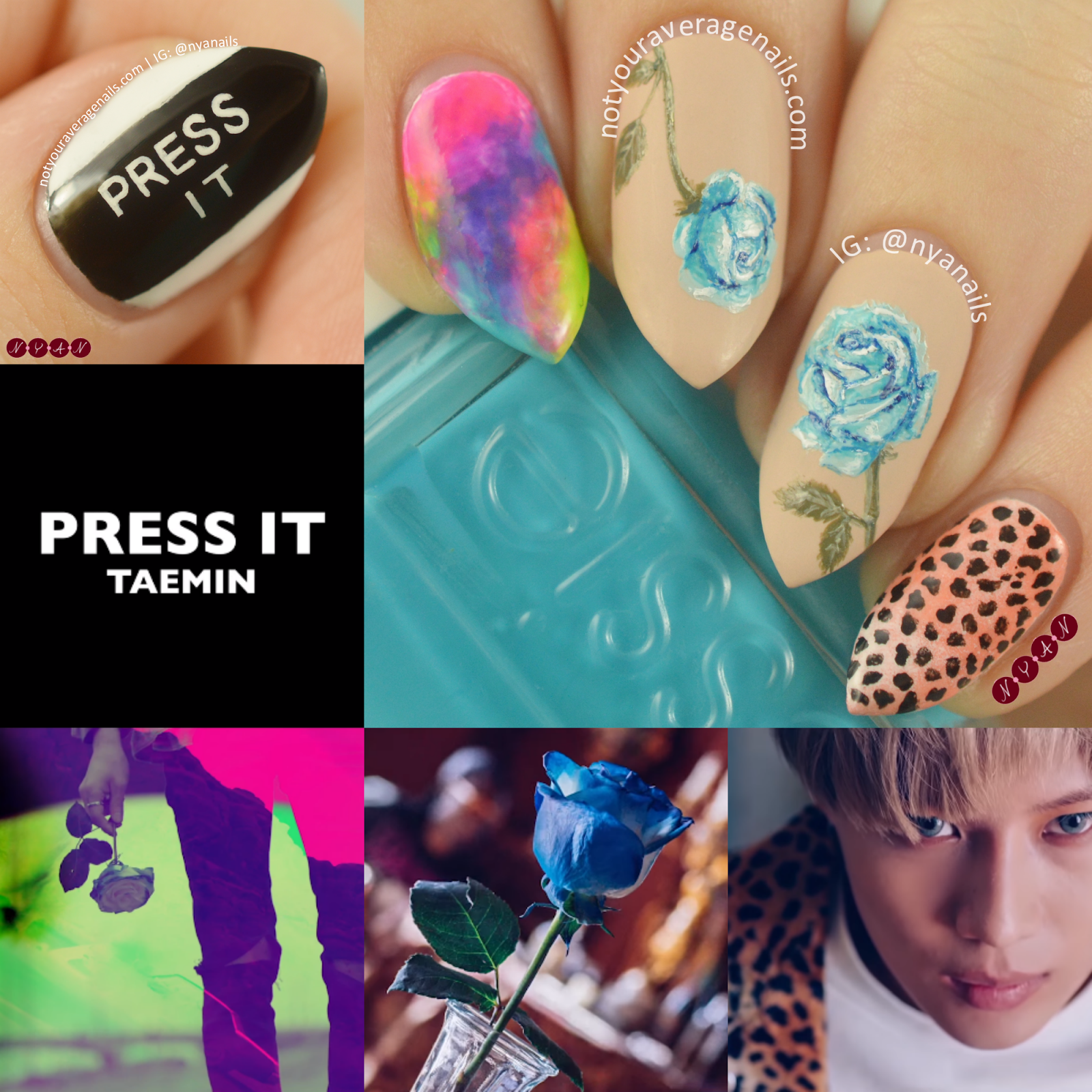 Taemin press your number nails | Nail art | Pinterest
