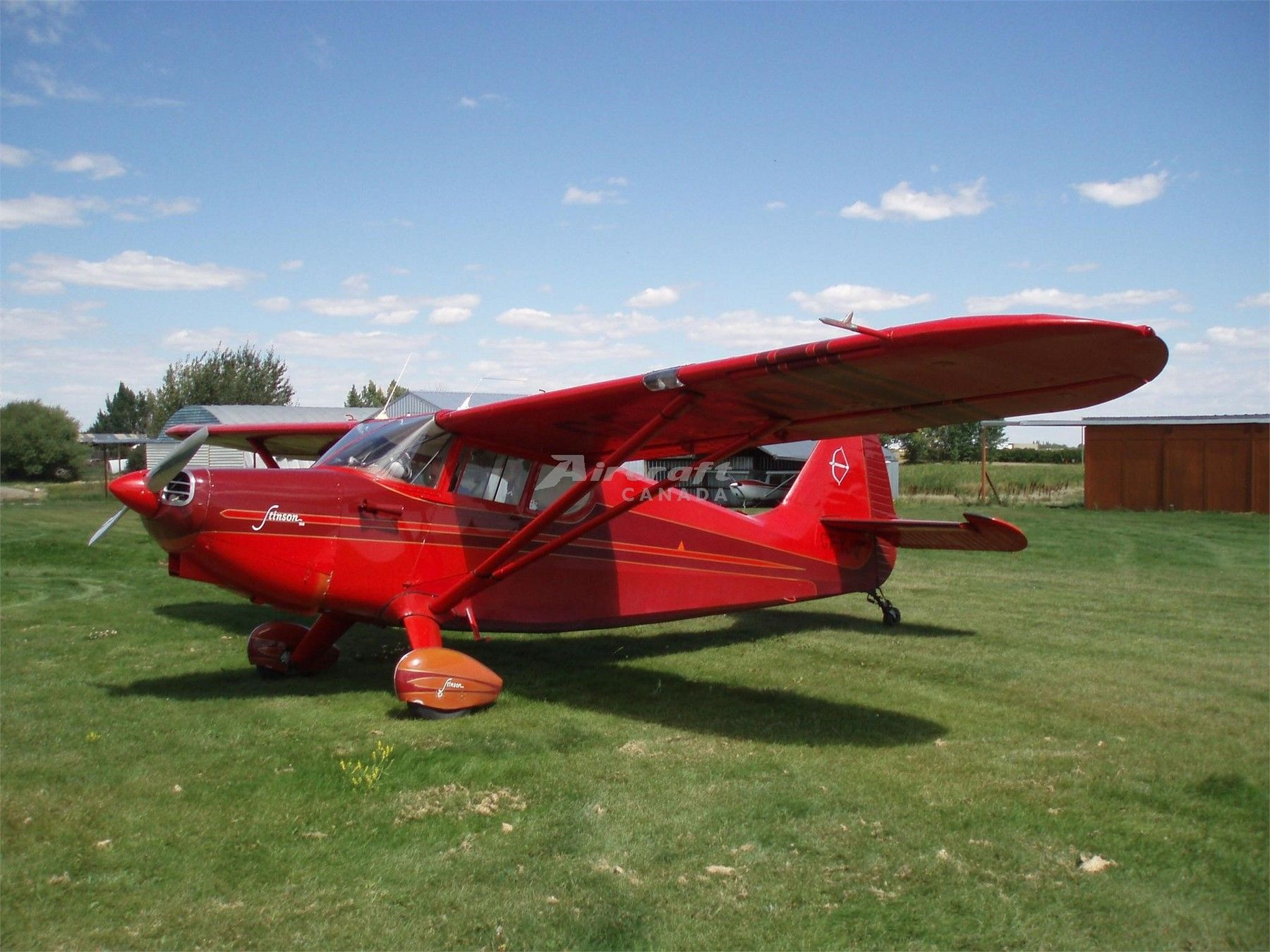 1947 Stinson 108-1 for sale in Calgary, AB Canada => http://www.airplanemart.com/aircraft-for-sale/Single-Engine-Piston/1947-Stinson-108-1/8928/