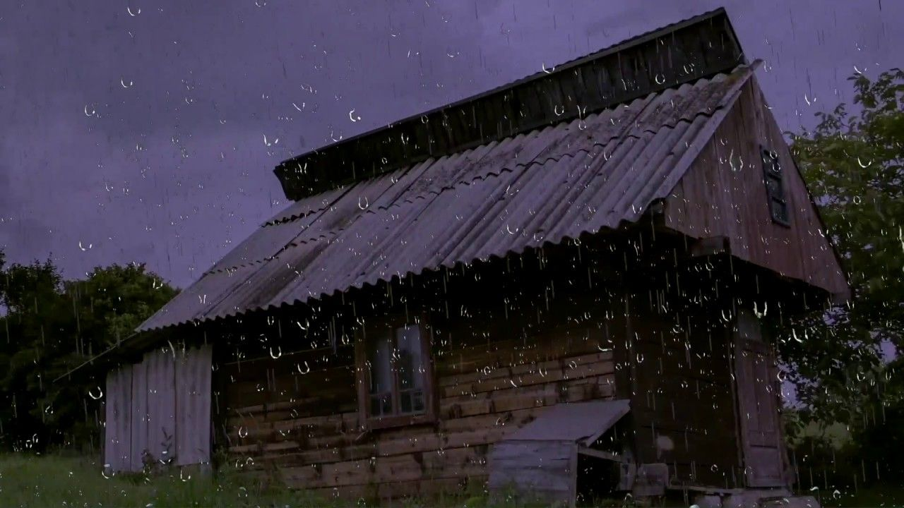 Relaxing Rain Sounds On A Tin Roof W Thunder For Sleep Relaxation 10 Hours Natural White Noise Youtube Relaxing Rain Sounds Sound Of Rain Tin Roof