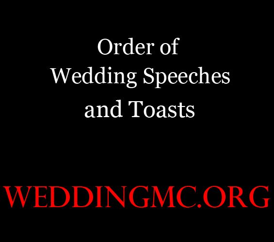Order Of Wedding Speeches And Toasts At A Wedding