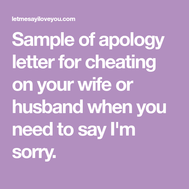 Apology Letter For Cheating from i.pinimg.com