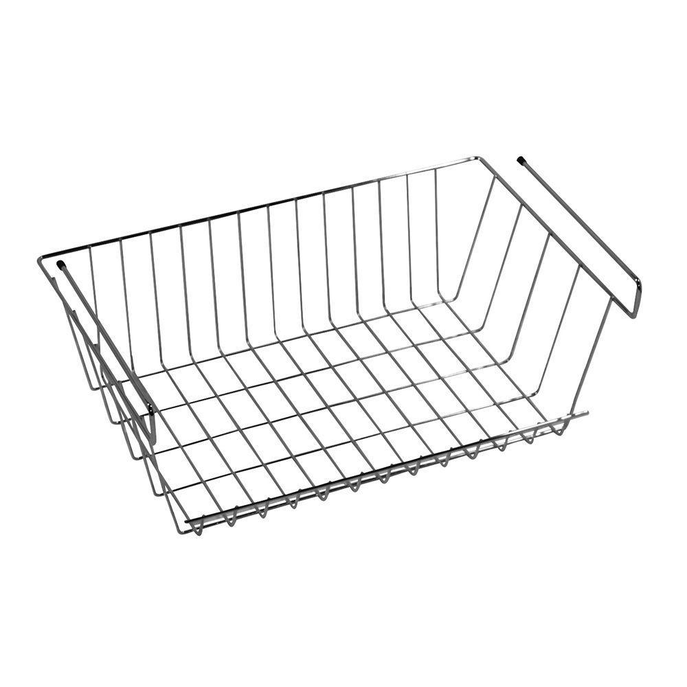 More Inside Medium Under Shelf Wire Basket Grey Metal Basketsstorage Organizationcloset