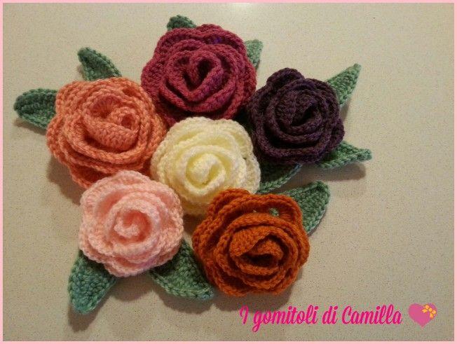 Come Fare Una Rosa Semplicissima A Uncinetto I Tutorial Di Camilla