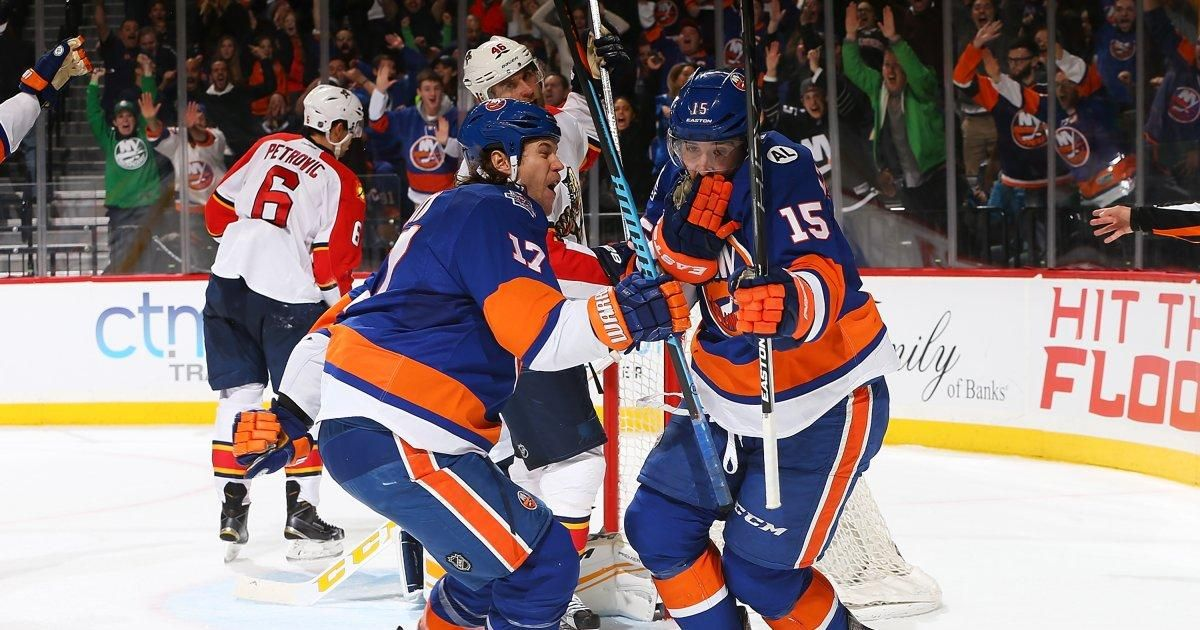 Islanders use third-period scoring barrage to come back on Panthers, Cal Clutterbuck buries winner #Sport #iNewsPhoto
