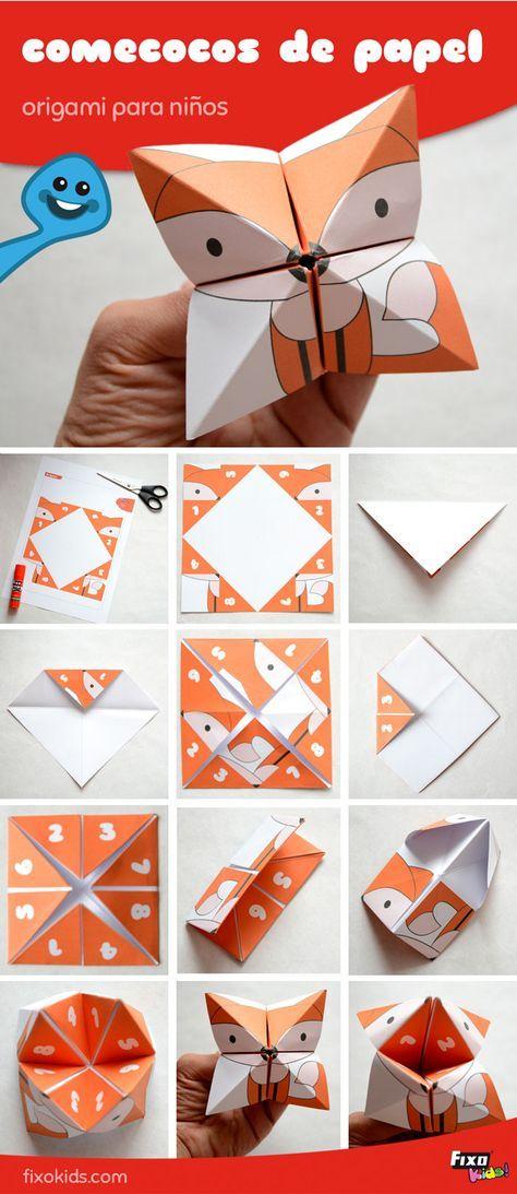 Aprende papiroflexia fácil con este divertido juego de papel: el juego del ococos o