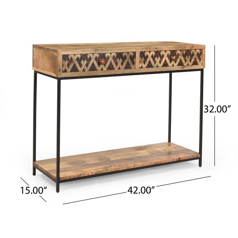 Pendergrass Stella 42 Solid Wood Console Table Wood Console Table Wood Console Console Table