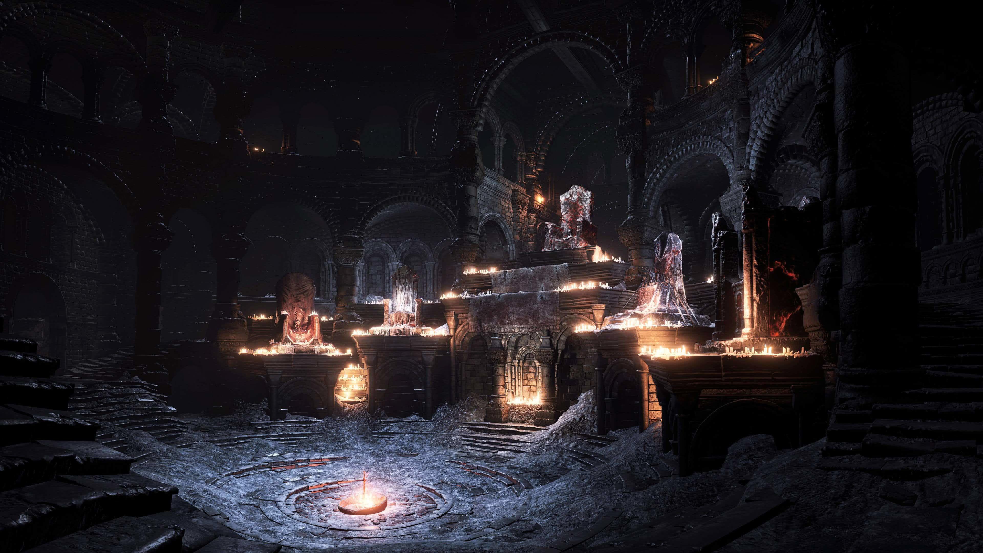 Res 3840x2160 Dark Souls 3 Firelink Shrine Uhd 4k Wallpaper In 2020 Dark Souls Wallpaper Dark Souls Dark Wallpaper